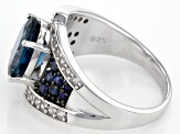 London Blue Topaz Sterling Silver Ring 3.45ctw