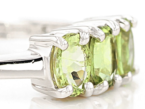 Green Amblygonite Sterling Silver Ring 1.02ctw