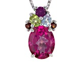 Pink Topaz Sterling Silver Pendant With Chain 3.25ctw