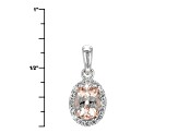 Pink Morganite Sterling Silver Pendant With Chain .70ctw