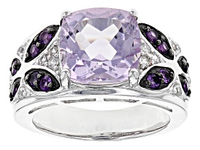 Orchid Bolivian Amethyst Sterling Silver Ring 4.86ctw