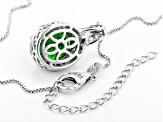 Green Chrome Diopside Sterling Silver Pendant With Chain 5.07ctw
