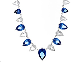 Blue Spinel Sterling Silver Necklace 36.46ctw