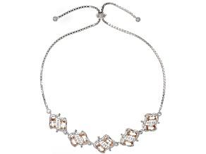Peach Morganite Sterling Silver Bolo Bracelet 1.76ctw