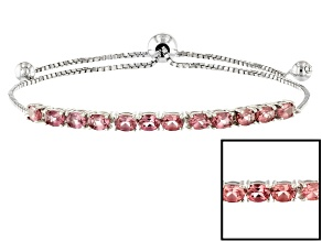 Color shift garnet sterling silver bolo bracelet 2.19ctw