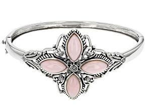 Pink Peruvian Opal Sterling Silver Bracelet