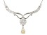 White Fabulite Strontium Titanate And White Zircon sterling silver Necklace 3.07ctw