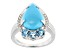 Blue Sleeping Beauty Turquoise sterling silver ring .72ctw