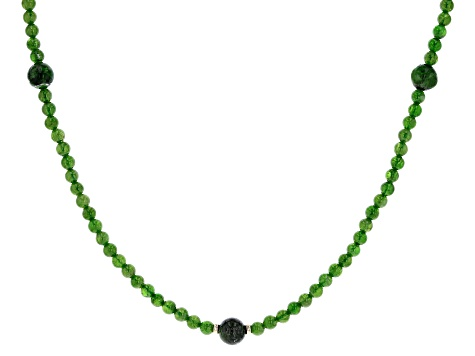 Mother\u2019s Day Gifts Genuine Chrome Diopside Necklace Green Stone Necklace Chrome Diopside Necklace Adjustable Green Necklace