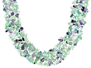 Multi Color Fluorite Sterling Silver Necklace
