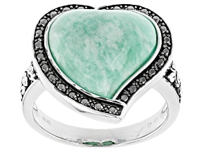 Blue Amazonite Sterling Silver Ring