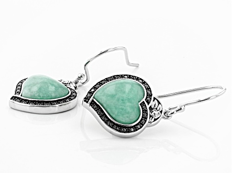 Blue Amazonite Sterling Silver Earrings