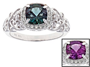 Blue Alexandrite Sterling Silver Ring 1.79ctw