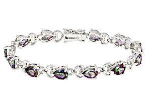 Mystic Fire® green Mystic Topaz® sterling silver bracelet 12.95ctw
