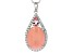 Pink Peruvian opal sterling silver pendant with chain 1.12