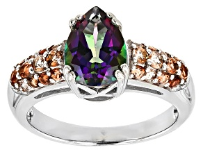 Green Mystic Topaz® sterling silver ring 2.56ctw