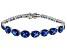 Lab Created Blue Spinel sterling silver Bracelet 7.26ctw