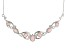 Pink opal sterling silver necklace