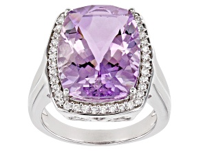 Purple orchid amethyst sterling silver ring 7.38ctw