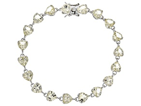 Yellow labradorite sterling silver bracelet 16.95ctw