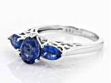 Blue kyanite sterling silver ring 2.45ctw