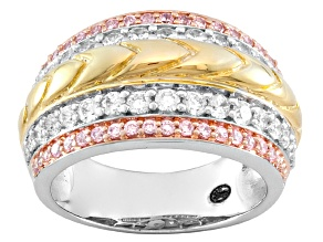 Remy Rotenier For Bella Luce ® 2.12ctw Rhodium & 18k Yellow Gold Over Sterling Silver Ring