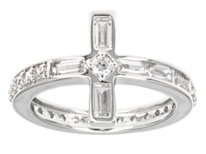 Cubic Zirconia Sterling Silver Ring 1.94ctw