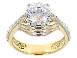 Cubic Zirconia Eterno ™ Rose And Yellow Ring 4.10ctw