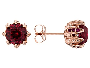 Lab Created Ruby 18k Rose Gold Over Sterling Silver