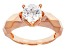 White Cubic Zirconia 18k Rose Gold Over Sterling Silver Ring 2.17ct