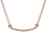 Cubic Zirconia 18k Rose Gold Over Stelring Silver Necklace 1.87ctw