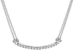 Cubic Zirconia Sterling Silver Necklace 1.87ctw