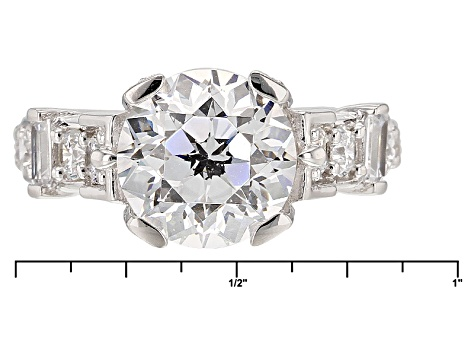 White Cubic Zirconia Rhodium Over Sterling Silver Ring 8.81ctw
