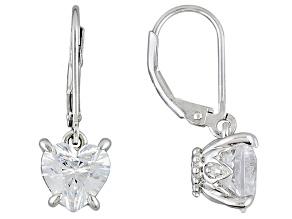 Cubic Zirconia Silver Earrings 5.85ctw (3.46ctw DEW)
