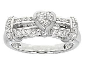 Cubic Zirconia Silver Ring .52ctw (.37ctw DEW)