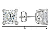 Cubic Zirconia Silver Stud Earrings 11.09ctw (4.17ctw DEW)