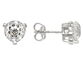 Cubic Zirconia Silver Stud Earrings 7.02ctw (4.15ctw DEW)