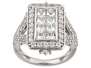 Cubic Zirconia Silver Ring 4.47ctw (2.69ctw DEW)