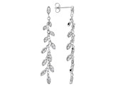 White Cubic Zirconia Rhodium Over Sterling Silver Earrings 1.46ctw