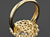 White Cubic Zirconia 18k Yellow Gold Over Sterling Silver Ring 8.68ctw