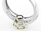 Yellow Apatite Sterling Silver Ring 1.60ctw