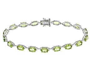 Green Peridot Sterling Silver Bracelet 15.30ctw