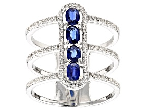 Blue Kyanite Sterling Silver Ring 1.15ctw