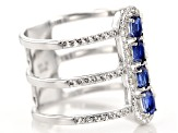 Blue Kyanite Sterling Silver Ring 1.15ctw