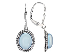 Blue Chalcedony Sterling Silver Earrings