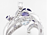 Blue Iolite Sterling Silver Ring 3.26ctw