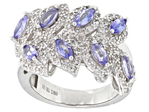 Blue Tanzanite Sterling Silver Ring 1.68ctw
