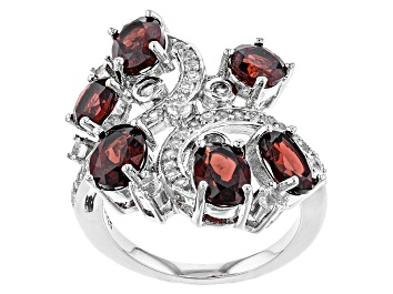 Picture of Red Garnet Sterling Silver Ring 5.75ctw
