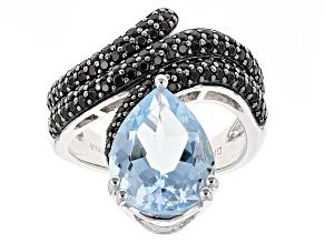 Sky Blue Topaz Sterling Silver Ring 5.58ctw