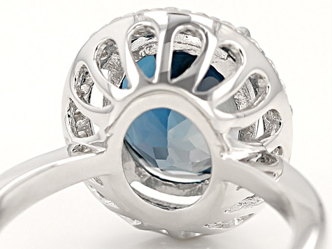 London Blue Topaz Sterling Silver Ring 2.83ctw
